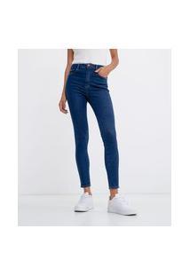 Calça Jeans Skinny Cintura Alta | Marfinno | Azul | 48