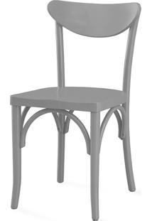 Cadeira Cinza Para Sala De Jantar Amélie Laca Cinza Concreto - 44,5X45X81 Cm