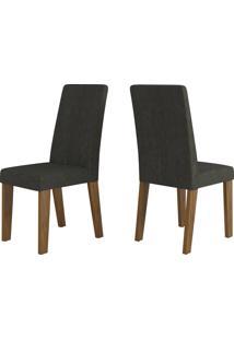 Cadeiras Kit 2 Cadeiras Nobre 14103 Seda/Marrom - Viero Móveis