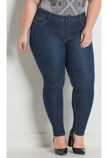 Calça Sawary Cigarrete Pluis Size Jeans