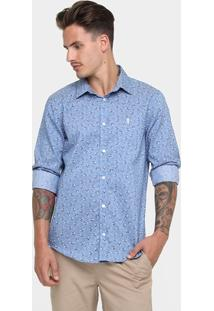 Camisa Sergio K. Slim Fit Flower - Masculino