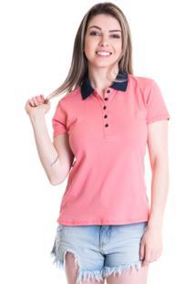 Camisa Pólo Algodao Poliester feminina  242836729e483