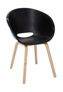 Cadeira Elena Com Base De Madeira Preta - Tramontina