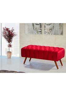 Puff Triton 1,00 Cm De Largura Vermelho - Lc Móveis