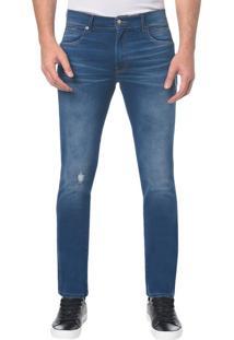 Calça Jeans Sculpted Ckj 026 Slim - Azul Médio - 36