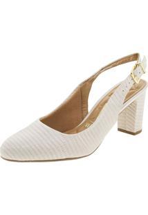 456c35ea1 ... Sapato Feminino Chanel Vizzano - 1288207 Marfim