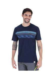Camiseta Hd Ornament Strip - Masculina - Azul Escuro