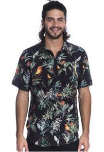 Camisa Long Island Birds Masculina - Masculino