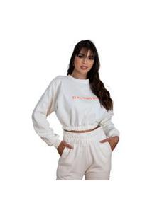 Calça Feminina Moletom Jogger Slim Básica Moda Inverno 2021 Bege