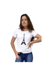 Camiseta Feminina Cellos Eifel Tower Premium Branco