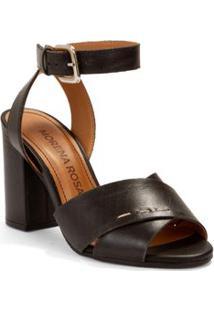Sandalia Salto Alto Com Fivela Preto