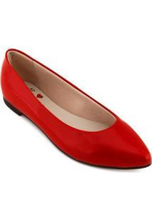 Sapatilha Moleca Feminino - Feminino-Vermelho