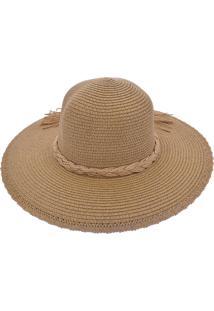 Chapéu De Praia Bali Beach Com Cordão Trançado Bege