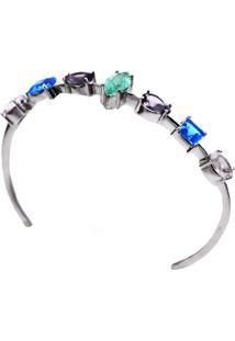 Bracelete Show De Pedras Com Esmeralda Fusion Em Prata 925 La Madame Co
