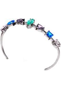 Bracelete Show De Pedras Com Esmeralda Fusion Em Prata 925 - Multicolorido - Feminino - Dafiti