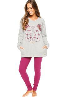 Pijama Mensageiro Dos Sonhos Ursos Cinza