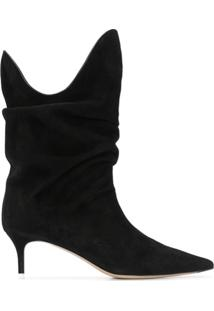 The Attico Ankle Boot Tate Com Salto 55Mm - Preto