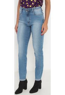 Jeans Skinny Com Zíper- Azul- Ennaenna