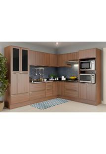 Cozinha Completa Multimã³Veis Com 13 Peã§As Calã¡Bria 5461R Nogueira - Incolor/Marrom - Dafiti