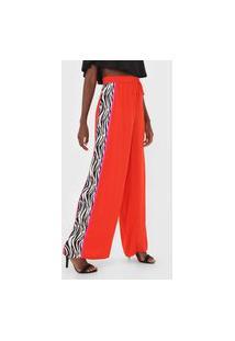 Calça Triton Pantalona Zebra Vermelha