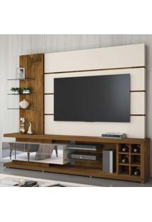 """Estante Para Tv Até 60"""" Vetro 100% Mdf 13329 Demolição/Off White - Dj Móveis"""