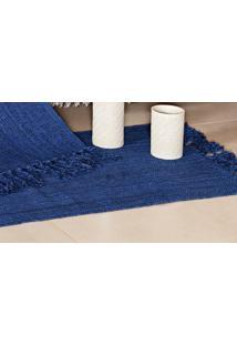 Tapete Mersi Decoração Cor Azul Marinho Com 2 Peças - Ione Enxovais