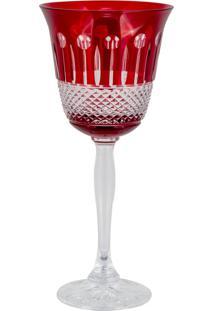 Taça De Cristal Lodz Para Água Ii De 220 Ml - Rubi Scarlet