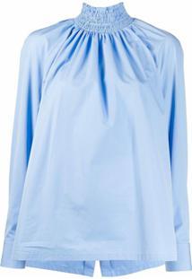 Prada Blusa Gola Alta - Azul