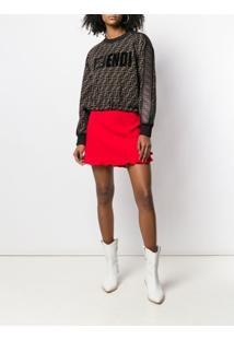 Fendi Suéter Com Logo - Marrom
