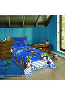 Edredom Dupla Face Toy Stroyâ® - Solteiro- Azul & Vermelhlepper