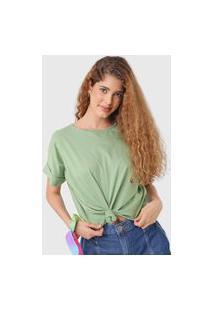 Camiseta Colcci Eco Soul Verde