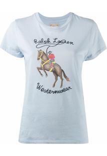 Polo Ralph Lauren Camiseta Com Logo - Azul