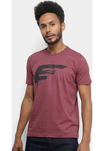 Camiseta Ellus Cotton Fine Painted Easa Classic Masculina - Masculino-Bordô