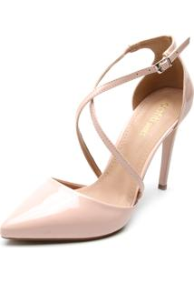 Scarpin Dafiti Shoes Tiras Transpassadas Rosa
