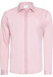 Camisa Masculina Voile - Rosa