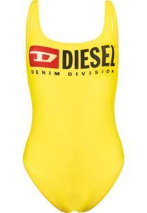 Diesel Maiô Com Logo - Amarelo