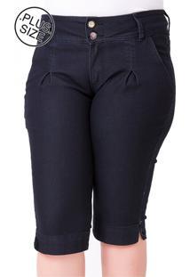 Bermuda Plus Size - Confidencial Extra Jeans Maria João Com Elastano