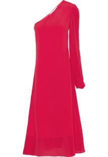 Vestido Ombro Só - Vermelho