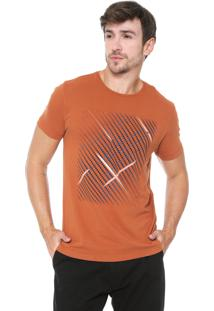 Camiseta Aramis Geométrica Laranja