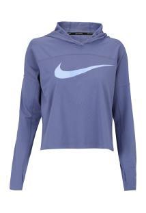 Blusão Com Capuz Nike Dry Hoodie Core Gx - Feminino - Roxo