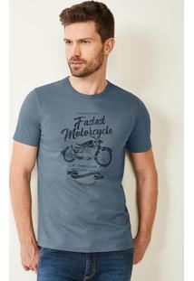 Camiseta Cinza Tradicional Decote Redondo Malwee