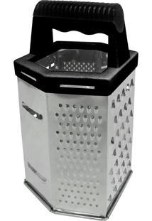 Ralador Aço Inox P/Queijo C/6 Faces Preto 10X9X20Cm Halfa