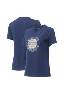 Camiseta Fem. Jeep Round - Azul Marinho