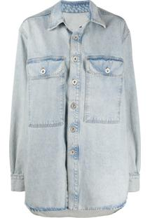 Unravel Project Oversized Long Sleeve Denim Jacket - Azul