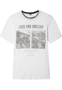 Camiseta John John Rx Loud And Unclear Malha Algodão Off White Masculina (Off White, Gg)