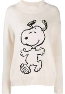 Chinti & Parker Suéter Snoopy Gola Alta - Neutro