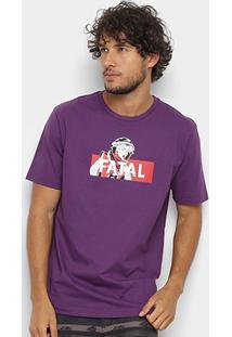 Camiseta Fatal Estampa Logo Masculina - Masculino-Roxo