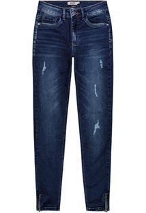 Calça Azul Escuro Jeans Push Up