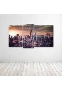 Quadro Decorativo - Empire State Retro - Composto De 5 Quadros - Multicolorido - Dafiti