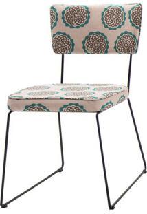Cadeira Milan Estampa Cerc Base Preta - 55892 - Sun House